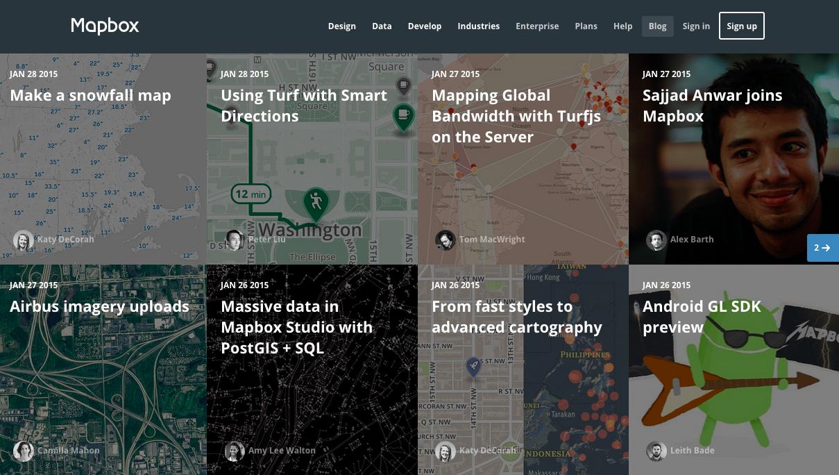 Mapbox B2B WebSite Design