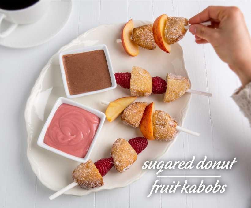 Sugared Donut Fruit Kabobs
