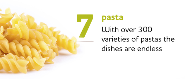 Variety of Pasta Dishes is Endless