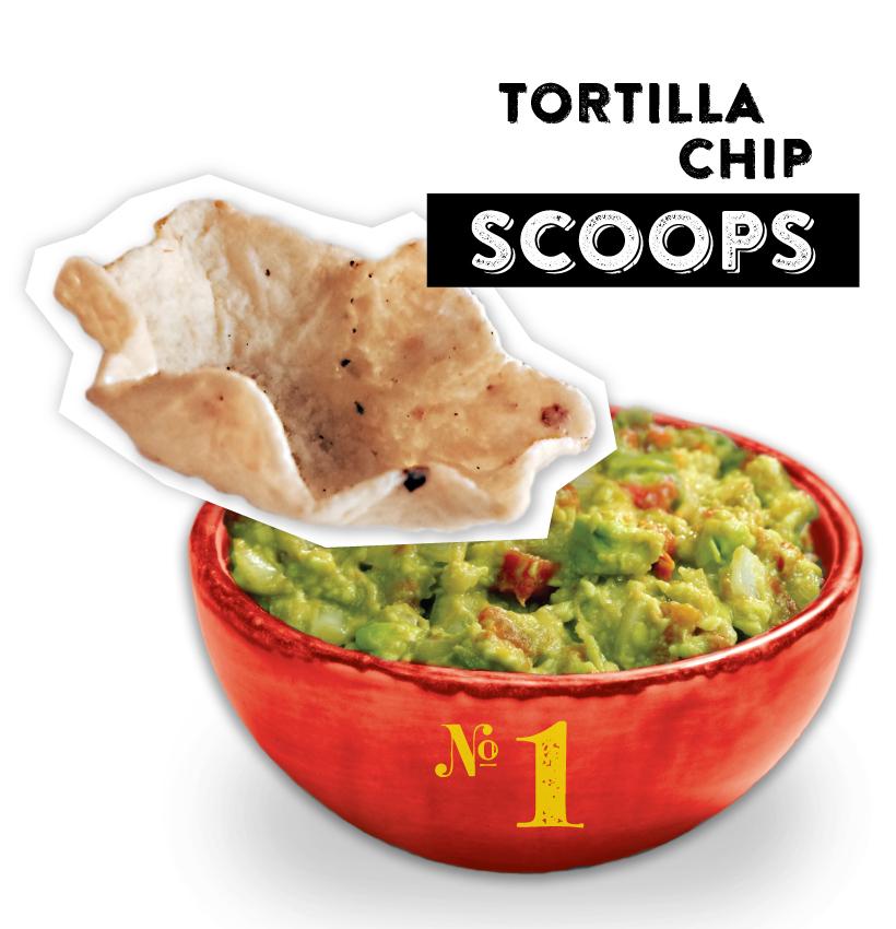 Tortilla Chip Scoops Guacamole Dipper