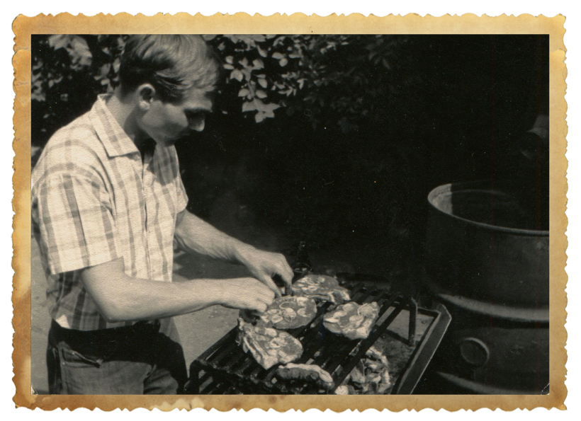 Vintage Grilling Outdoors