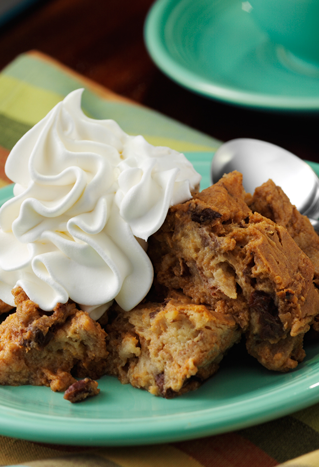Pumpkin Bread Pudding Fall Recipe