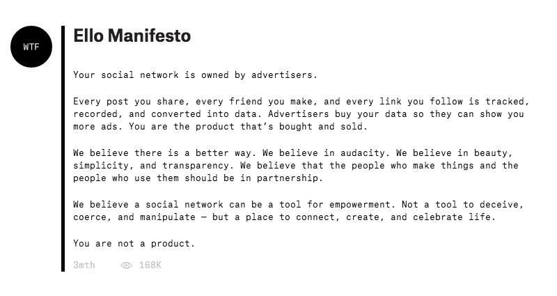 Ello Manifesto