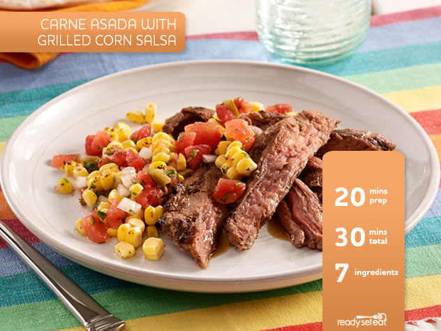Carne Asada with Grilled Corn Salsa