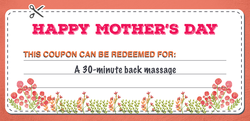 30-Minute Back Massage Mother's Day coupon